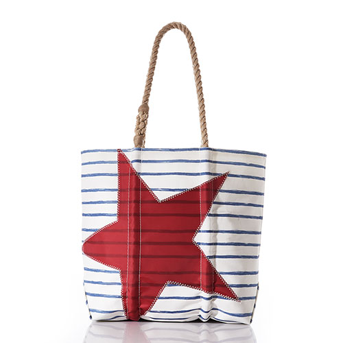 Breton Stripe and Star Tote