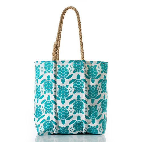 Aquamarine Sea Turtle Tote