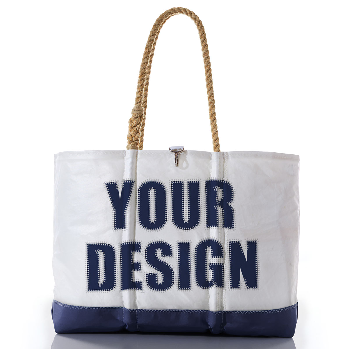 Custom Design Ogunquit Beach Tote-Hemp Rope