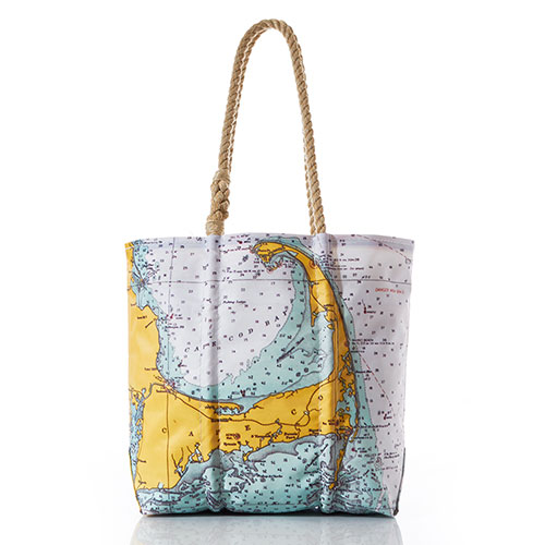 Cape Cod Nautical Chart Tote