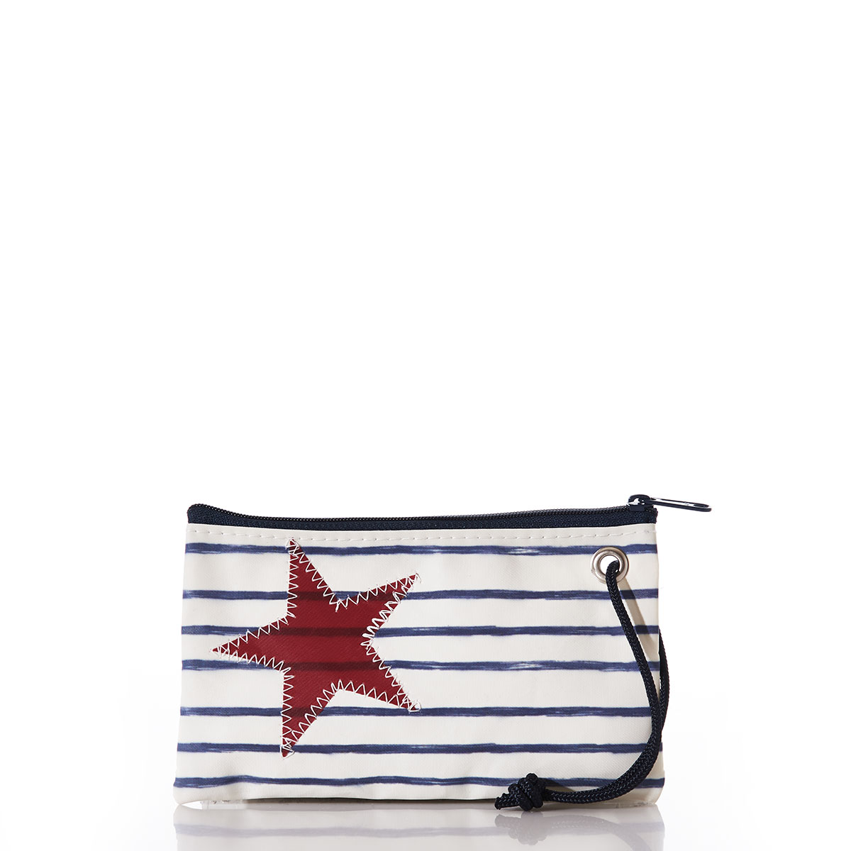 Breton Stripe and Star Wristlet
