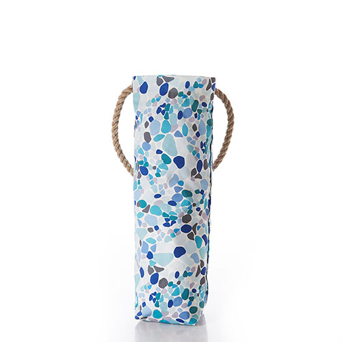 Sea Glass Print Wine Bag