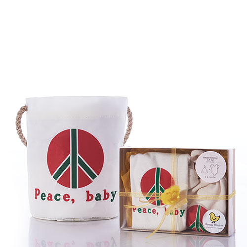 Baby Gift Set Bucket Bag - Peace