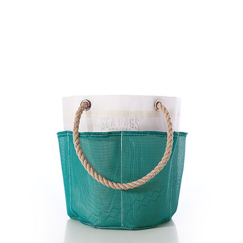 Ocean Teal Gardener's Bucket Bag
