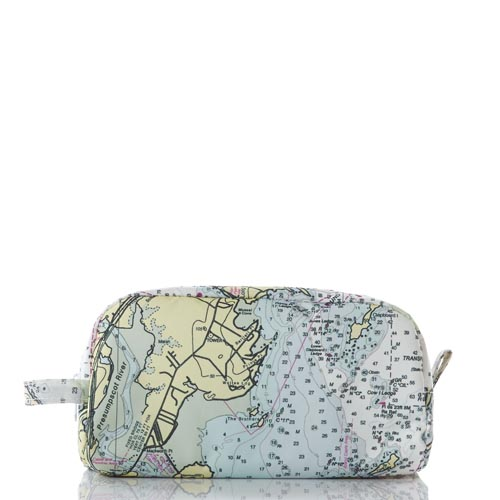 Casco Bay Nautical Chart Toiletry Bag