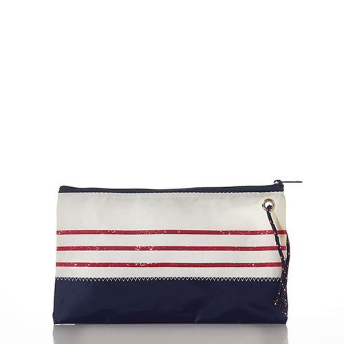 Red Mariner Stripe Large Wristlet