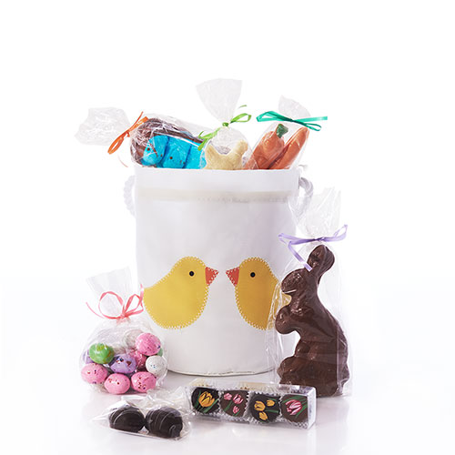 Yellow Chicks Chocolate-Filled Easter Bucket Bag