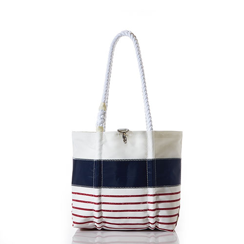 Red Mariner Stripe Handbag