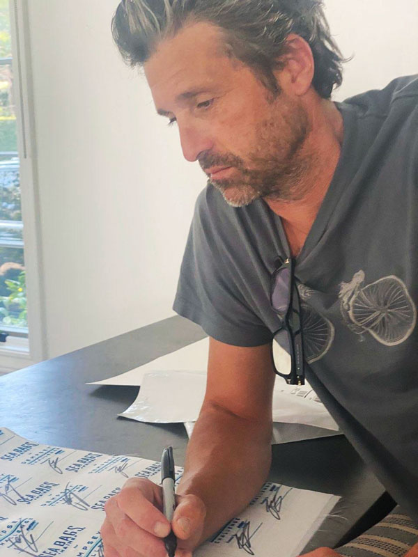 Patrick Dempsey Signing Patches
