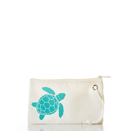 Aquamarine Sea Turtle Wristlet