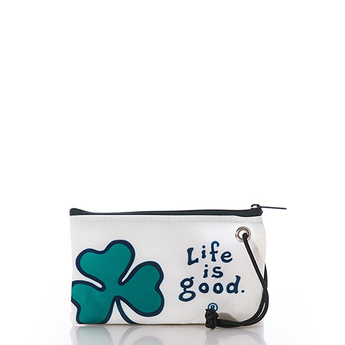 Life is Good Shamrock Wristlet