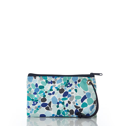 Sea Glass Print Wristlet