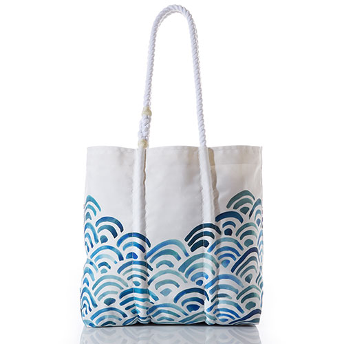 Watercolor Waves Tote