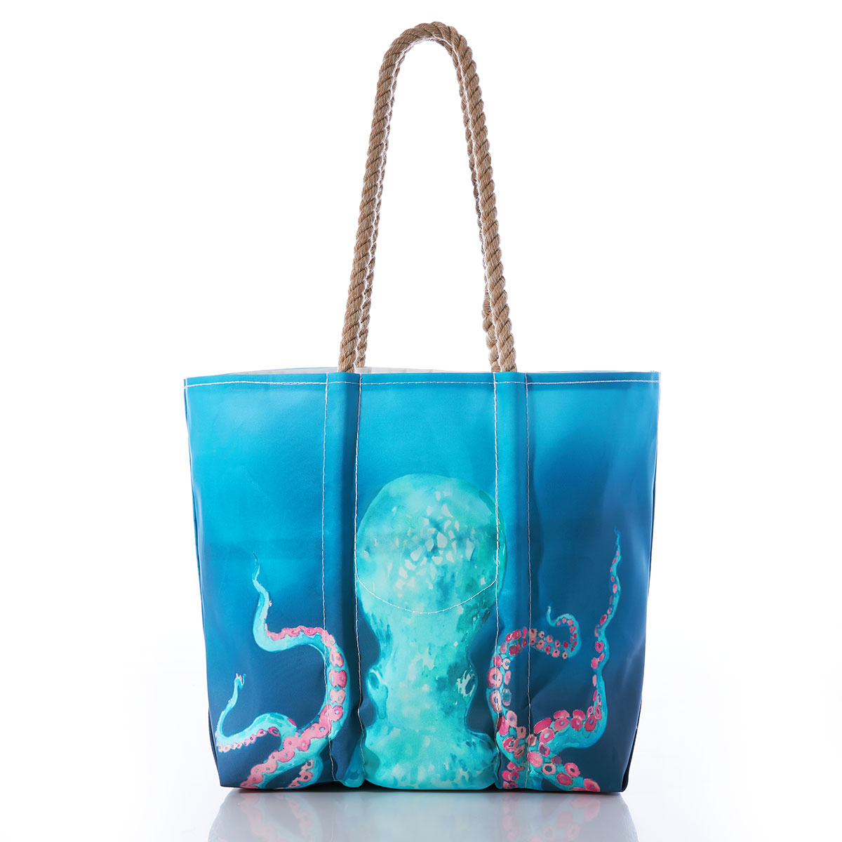 Glitter Shopping tote Octopus Tote Multipurpose Reusable Bag Sealife ocean bag Gift ocean lover Large purse Beach bag Marine life