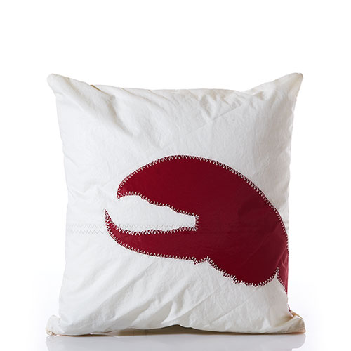 Red Lobster Claw Pillow
