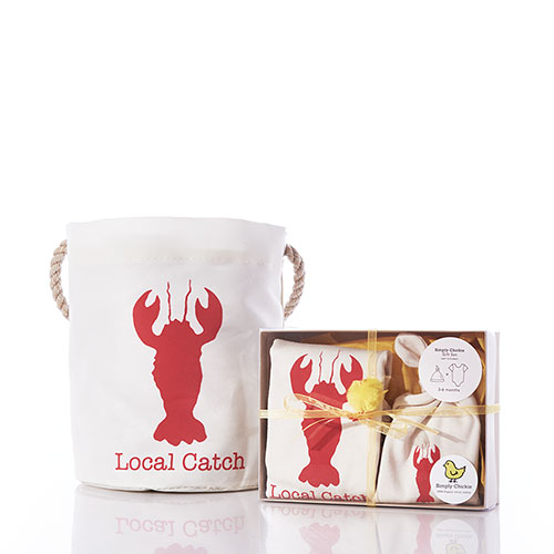Baby Gift Set Bucket Bag - Lobster