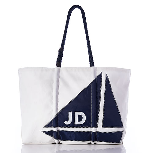 Custom Monogram Sailboat Tote