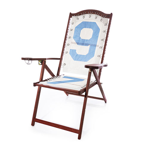 Vintage Blue 97 Cherry Lounge Chair