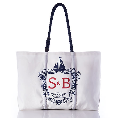 Custom Monogram Wedding Tote
