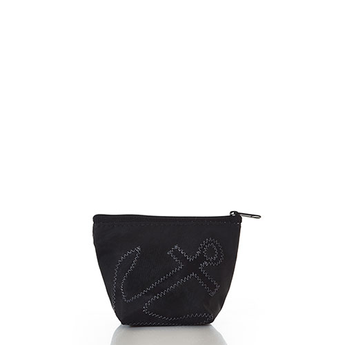 Black-on-Black Anchor Small Cosmetic Bag
