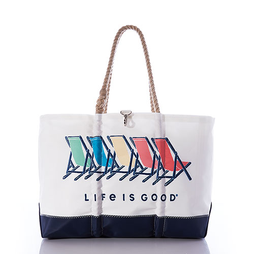 Life is Good Beach Chairs Ogunquit Beach Tote