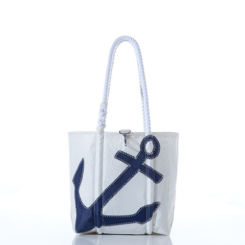 Navy Anchor Handbag
