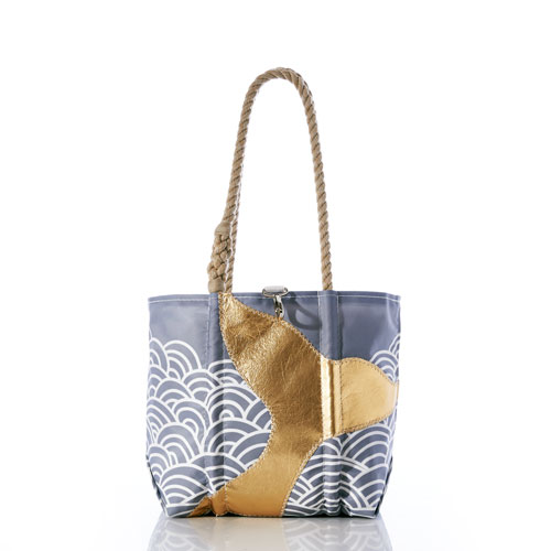 Gold Mermaid Tail and Waves Handbag