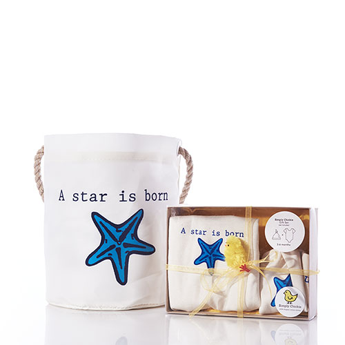 Baby Gift Set Bucket Bag - Starfish