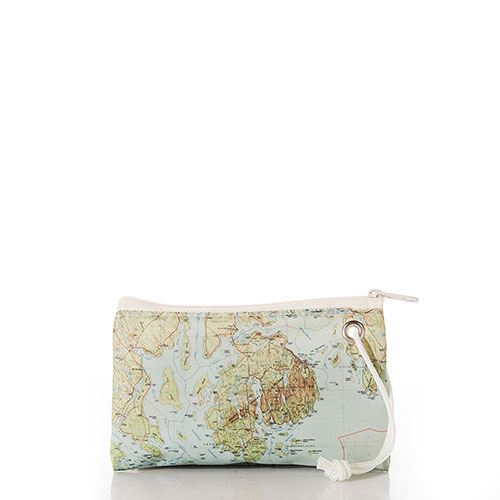Antique Bar Harbor Map Wristlet