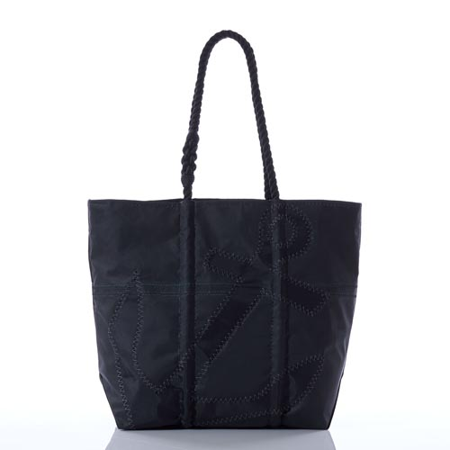 Black-on-Black Anchor Diaper Bag