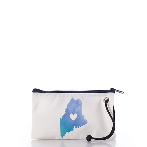 Watercolor Maine Wristlet
