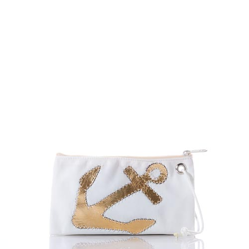 Metallic Anchor Wristlet
