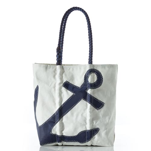 Navy Anchor Diaper Bag