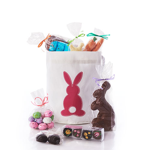 Pink Cottontail Chocolate-Filled Easter Bucket Bag