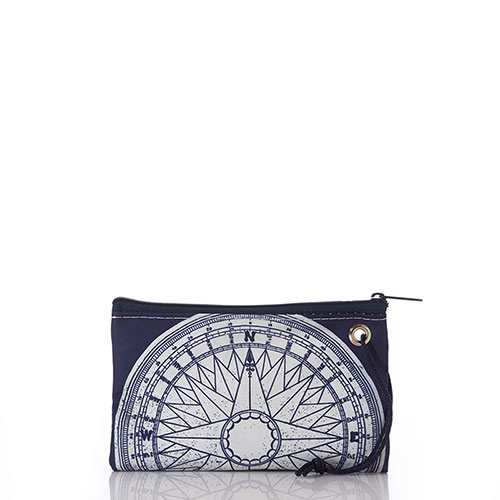 Navy True North Wristlet