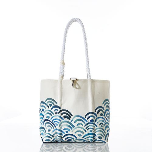 Watercolor Waves Handbag