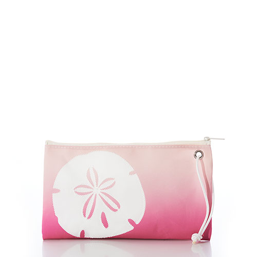 Sand Dollar-on-Ombre Cure Large Wristlet
