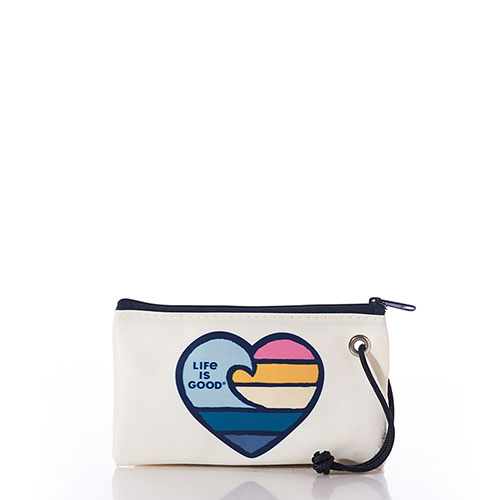 Wave Heart Life is Good Wristlet